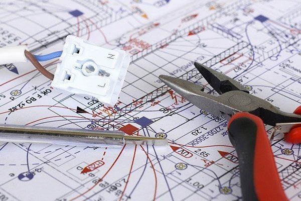 elektriker esbjerg el-entreprise plantegning ledning